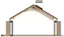 Проект классического одноэтажного загородного коттеджа с мансардой и двускатной крышей