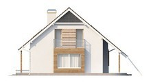 Проект просторного дома с гаражом и мансардой
