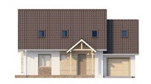Стильный проект дома с мансардой и гаражом