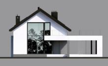 Современный жилой коттедж для узкого участка