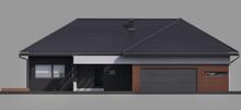 Одноэтажный современный коттедж с тремя спальнями