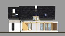 Современный жилой дом с деревянными колоннами