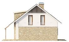 Проект дома с мансардой, кабинетом и террасой над гаражом
