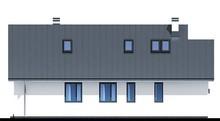 Современный коттедж с мансардой для узкого участка
