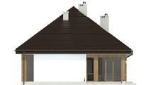 Одноэтажный симпатичный дом с четырьмя личными комнатами