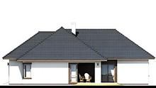 Одноэтажный коттедж с уютной верандой