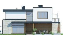 Двухэтажный современный жилой дом