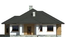 Современный одноэтажный дом с отдельной кухней