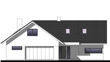 Красивый мансардный дом Т-образной формы