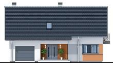 Мансардный дом с красивой гостиной и балконами