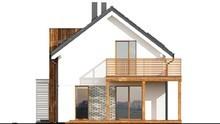 Красивый жилой дом для небольшого узкого участка