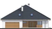 Красивый одноэтажный дом квадратной формы