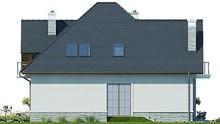 Восхитительный двухэтажный коттедж с полукруглой террасой