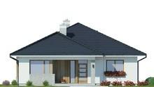 Современный одноэтажный дом с крытой верандой