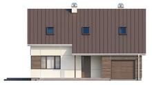 Проект коттеджа с мансардой, дополнительной спальней, застекленной террасой