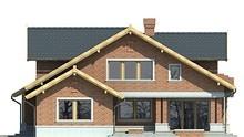 Величественный двухэтажный дом с гостиной сложной формы