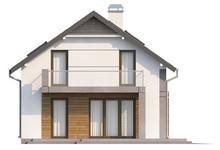 Проект дома с террасой и современными элементами