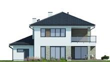 Проект двхэтажного дома с просторной гостиной и зоной отдыха