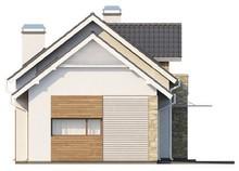 Проект дома с эркером и мансардой для узкого участка
