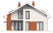 Проект дома со встроенным гаражом и 2 спальнями
