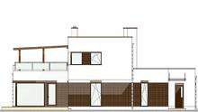 Схема оригинального двухэтажного особняка с просторными помещениями