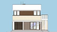 Схема двухэтажного жилого дома с роскошной зоной отдыха