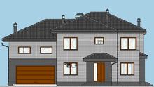 Роскошная планировка жилого дома на 2 этажа со спортзалом