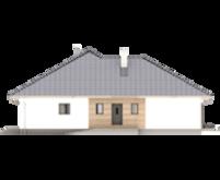 Планировка одноэтажного жилого дома площадью в 166 квадратов с тремя спальнями и большим гаражом.