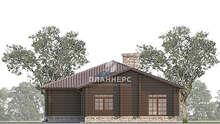 План одноэтажного дома площадью 168 кв. м в стиле ранчо