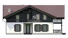 Проект дома площадью 208 кв. м с деревянным вторым этажом