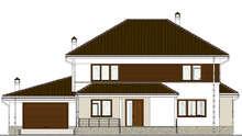 Проект просторного коттеджа площадью 285 кв.м с пристроенным гаражом