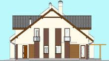 План стильного коттеджа на двух хозяев общей площадью 416 кв.м