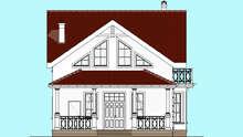 Проект двухэтажного коттеджа площадью 133 кв. м. с террасой и эркером