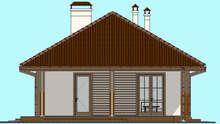 Современный одноэтажный дом с пристроенным гаражом