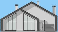 План дома со вторым светом в стиле барнхаус площадью 208 кв. м