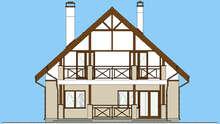 Проект красивого коттеджа с мансардой общей площадью 162 кв.м.
