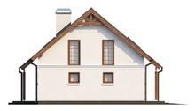 Проект дома со встроенным гаражом, эркером и балконом