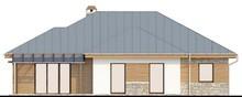 Проект одноэтажного дома с гаражом для двух авто