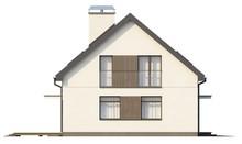 Проект традиционного дома со встроенным гаражом