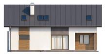 Проект дома с гаражом и кабинетом на первом этаже