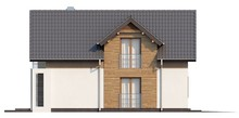 """Проект дома """"Т""""-образной формы с мансардой и гаражом"""