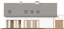 Проект коттеджа с большой террасой над гаражом