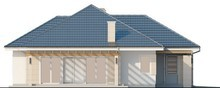 Проект уютного классического одноэтажного дома с мансардой и гаражом для 1 машины