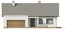 Проект классического дома с мансардой и антресолью над гостиной