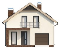 Проект дома со встроенным гаражом
