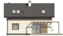 Проект небольшого дачного коттеджа с угловым окном в кухне