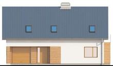 Проект коттеджа с мансардой, большим техническим помещением и кабинетом