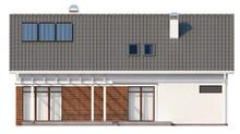 Проект дома со встроенным гаражом и мансардой