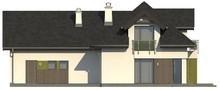 Проект коттеджа с интересными окнами и гаражом на два авто