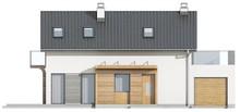 Проект коттеджа с оригинальным фасадом для большого участка